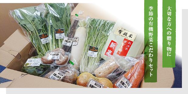 大切な方への贈り物に季節の有機野菜こだわりセット